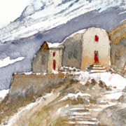 illustration Aquarelle Pyrenees